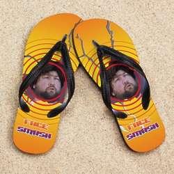 Personalized Face Smash Beacher Photo Sandals