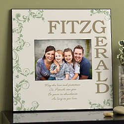 Irish Family Blessing Personalized Picture Frame