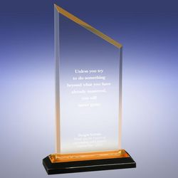 Personalized Gold Peak Reflection Award
