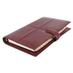 Cherry Leather Classic Compact Agenda