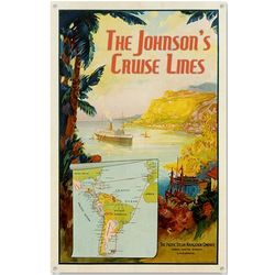 Personalized Tropical Cruise Lines Metal Sign