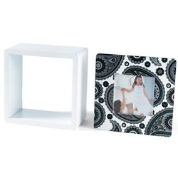 Paisley Photo Cube with Removable Front