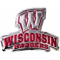 Wisconsin Badgers W Embossed Stainless Steel Wall Hanging