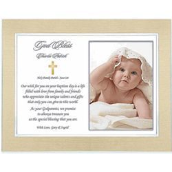 God Bless Godchild Framed Message