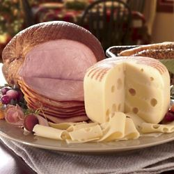 Ham and Swiss Cheese Gift Box