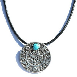 Prosperity Natural Turquoise Kabbalah Energetic Necklace