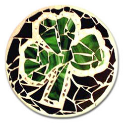 Shamrock Stained Glass Stepping Stone