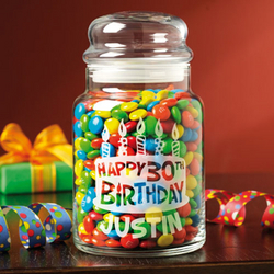 Personalized Birthday Treat Jar