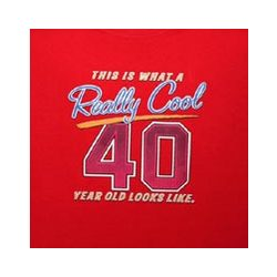 Really Cool 40 Year T-Shirt in Red