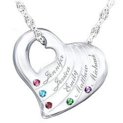 Family Is Love Personalized Birthstone Necklace
