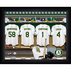 Personalized Oakland Athletics Locker Room Print