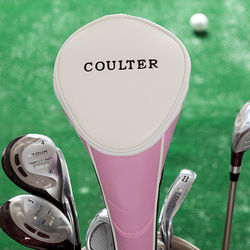 Pink Personalized Golf Club Cover