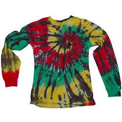 Rasta Swirl Tie Dye Longsleeve T-Shirt