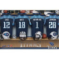 Tennessee Titans Personalized 16x24 Locker Room Canvas