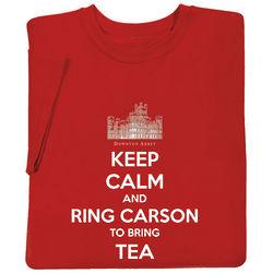 Downton Abbey Keep Calm and Ring Carson for Tea T-Shirt