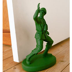 Classic Green Army Man Doorstop