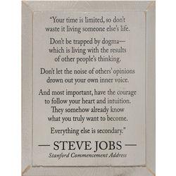 Steve Jobs Wooden Wall Plaque