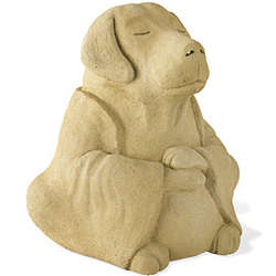 Large Meditating Dog Garden Sculpture