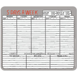 Five Days a Week Paper Mousepad
