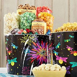 Fireworks Popcorn and Snack Gift Tin
