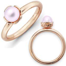 Pink Freshwater Pearl Rhodium Ring