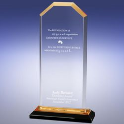 Personalized Gold Cornerstone Reflection Award