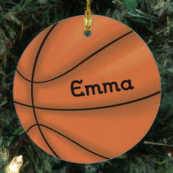 Basketball Personalized Ceramic Ornament