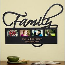 Home or Family Personalized Photo Plaque