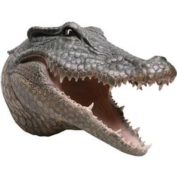 Head Turning Crocodile 3D Wall Plaque