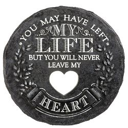 Never Leave My Heart Memorial Stone