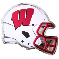 Wisconsin Badgers Helmet Metal Wall Hanging