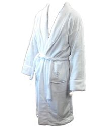 Sheraton White Plush Polyester Bathrobe