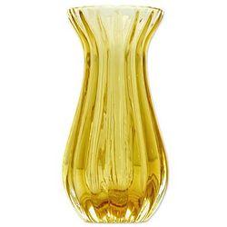 Amber Sunshine Art Glass Vase