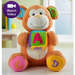 Animated ABC Charlie Learning Monkey Stuffed Animal