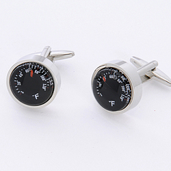Thermometer Cuff Links with Personalized Case