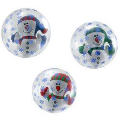 Inflate Snowman in Snowflake Beachball