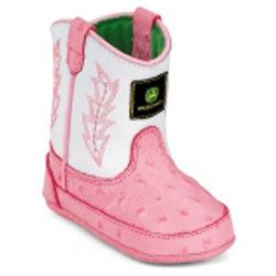 John Deere Baby Crib Boots for Little Girls