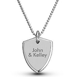 Stainless Steel Shield Pendant