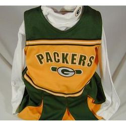 Green Bay Packers Preschool Cheerleader Outfit