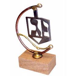 Dreidel Laser-Cut Steel Sculpture