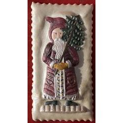 Santa with Tree Large Springerle Cookie