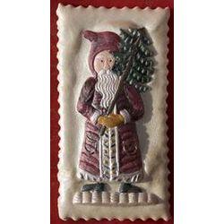Santa with Tree Large Springerle Cookie