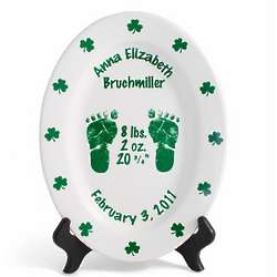 "Personalized 11"" Irish Birth Plate"