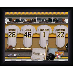 Personalized Pittsburgh Pirates Locker Room Print