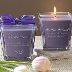 Personalized Lavender & Linen Retirement Candle