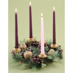 Purple Berry Advent Wreath