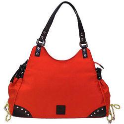 Woman's Orange Leather Handbag