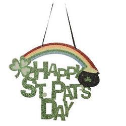 St. Patrick's Day Glitter Door Hanger