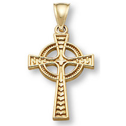 Women's 14K Gold Celtic Cross Pendant