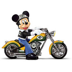 Green Bay Packers Headed For Victory Mickey Mouse Figurine